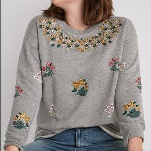 Lucky Brand Floral Gardens Embroidered Pullover